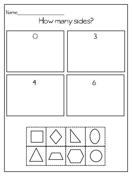 Sorting Shapes Worksheets for Kindergarten Teacherlingo $0 00 Shape attributes
