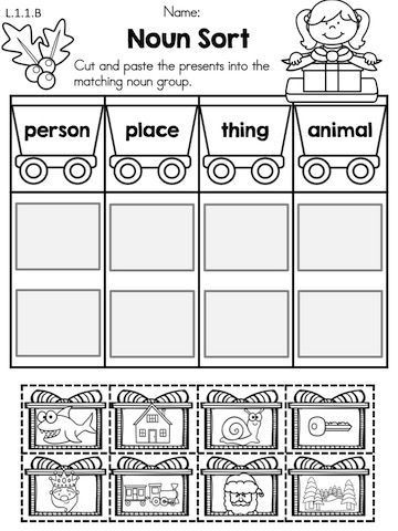 Sorting Worksheets for First Grade Christmas Literacy Worksheets 1st Grade