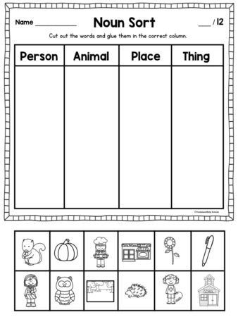 Sorting Worksheets for First Grade these Noun Activities for First Grade Will Keep Your