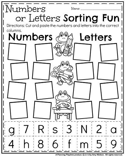 Sorting Worksheets for Kindergarten Back to School Kindergarten Worksheets