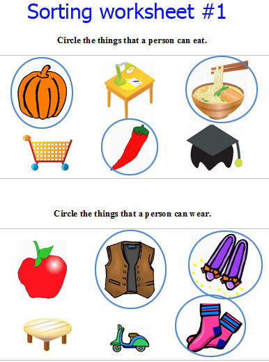 Sorting Worksheets for Kindergarten sorting Worksheet for Kindergarten & 17 Best Ideas About