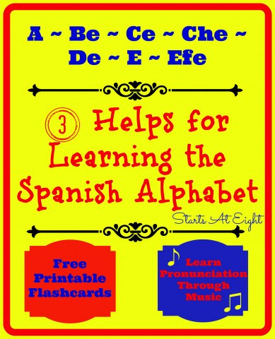 Spanish Alphabet Chart Printable 3 Helps for Learning the Spanish Alphabet Startsateight