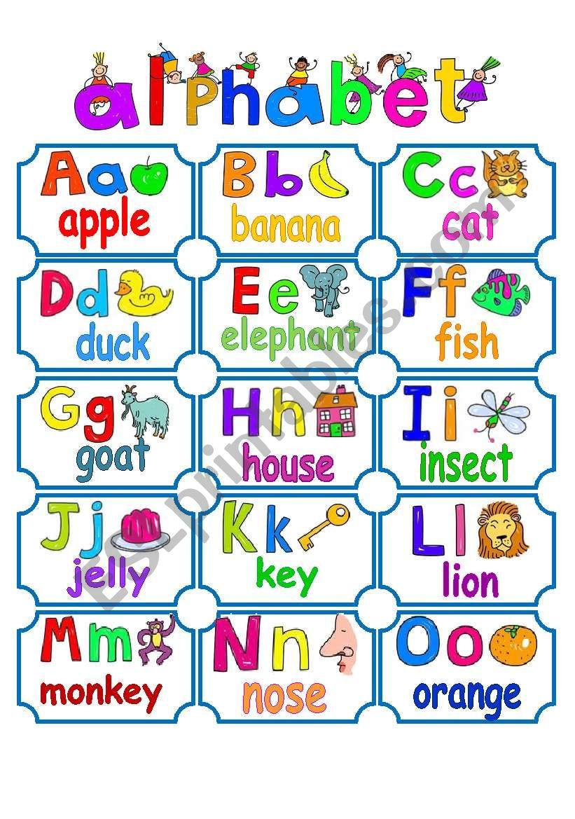 Spanish Alphabet Chart Printable Alphabet Chart Esl Worksheet by La Luna