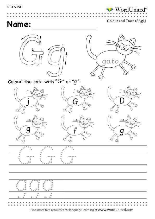 "Spanish Alphabet Chart Printable Spanish Alphabet ""c"" Worksheets"