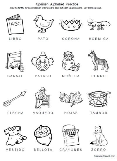 Spanish Alphabet Chart Printable Spanish with Alphabet Worksheets Simple Probability