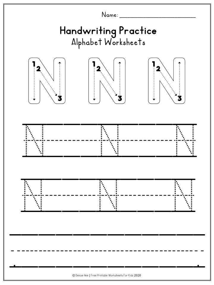 Spanish Alphabet Worksheets for Kindergarten Worksheet Alphabet Handwriting Practice Worksheets
