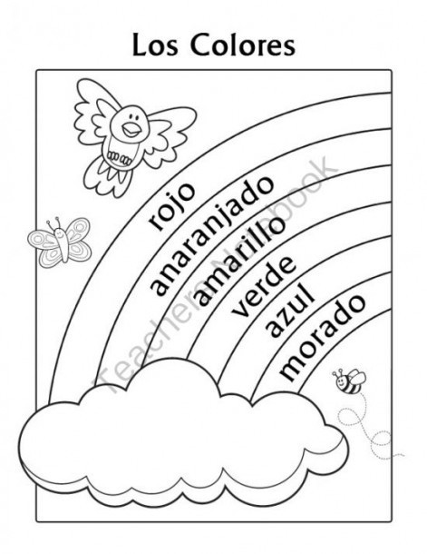 Spanish Kindergarten Worksheets Colors Spanish Worksheets Kindergarten