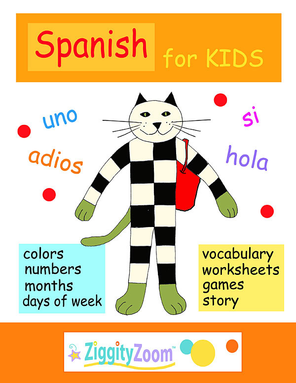 Spanish Kindergarten Worksheets Spanish for Kids Printables Activities and Vocabulary