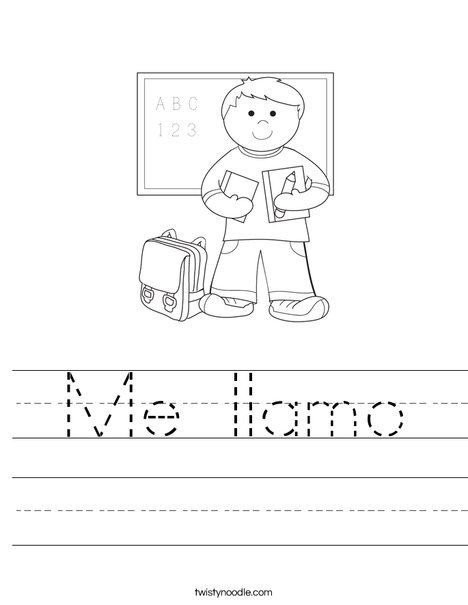 Spanish Kindergarten Worksheets Spanish Kindergarten Worksheets Me Llamo Worksheet – Debra Brown