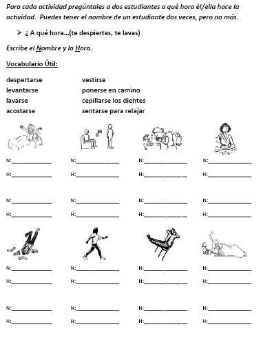 Spanish Reflexive Verbs Worksheet Printable foreign Language Speaking Activity with Reflexive Verbs