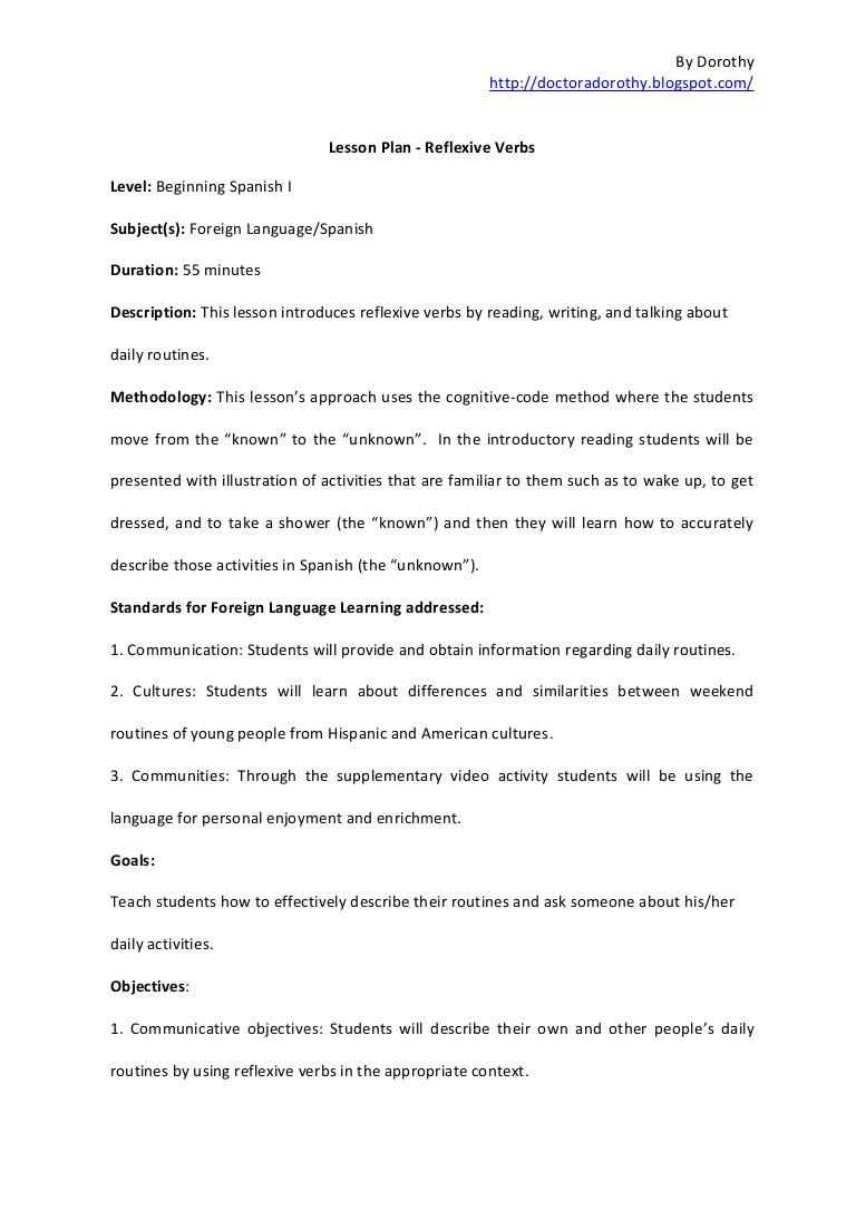 Spanish Reflexive Verbs Worksheet Printable Reflexive Verbs Spanish Worksheet Hayes School Publishing