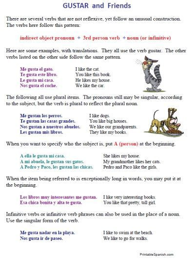 Spanish Reflexive Verbs Worksheet Printable Spanish