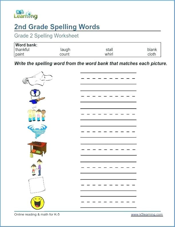 Spelling Worksheets 2nd Graders 2nd Grade Spelling Spelling 2 Teaching Charts 2nd Grade