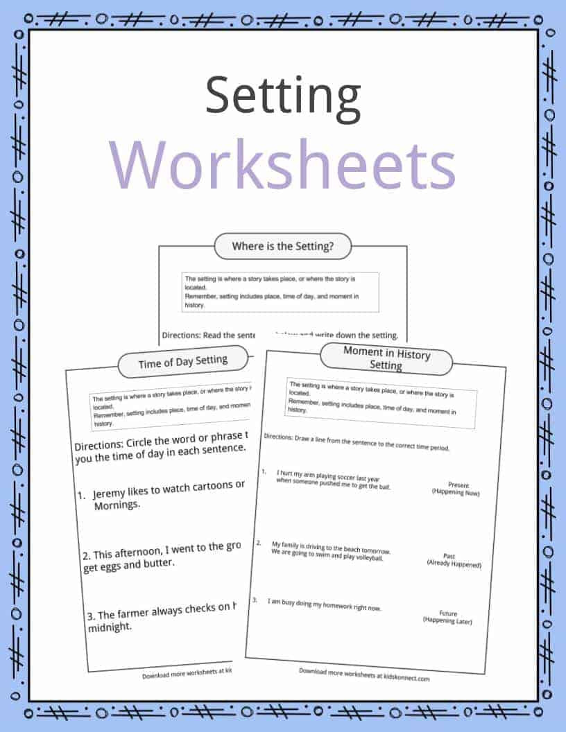 Story Elements Worksheet 5th Grade Story Setting Examples Definition & Worksheets for Kids