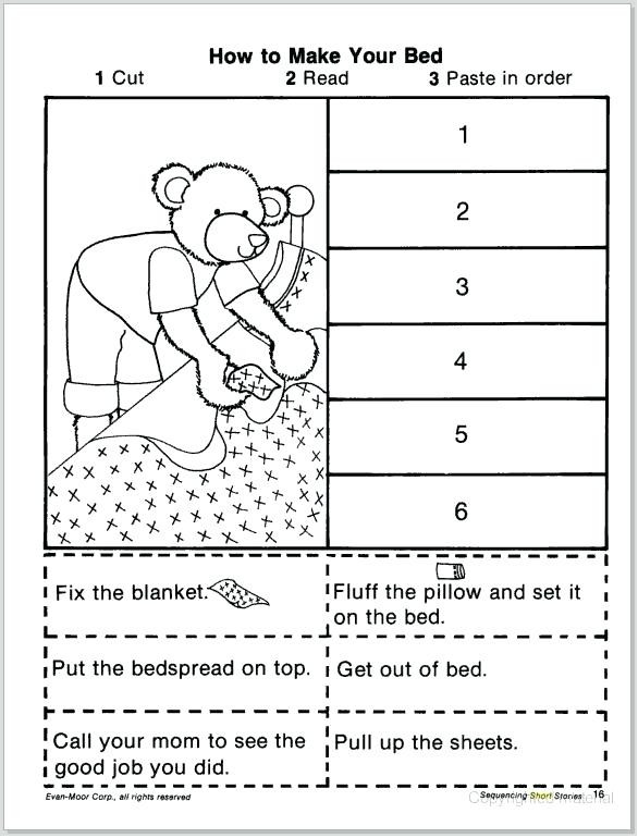 Story Sequence Worksheets for Kindergarten order Of events Worksheets – Goodaction