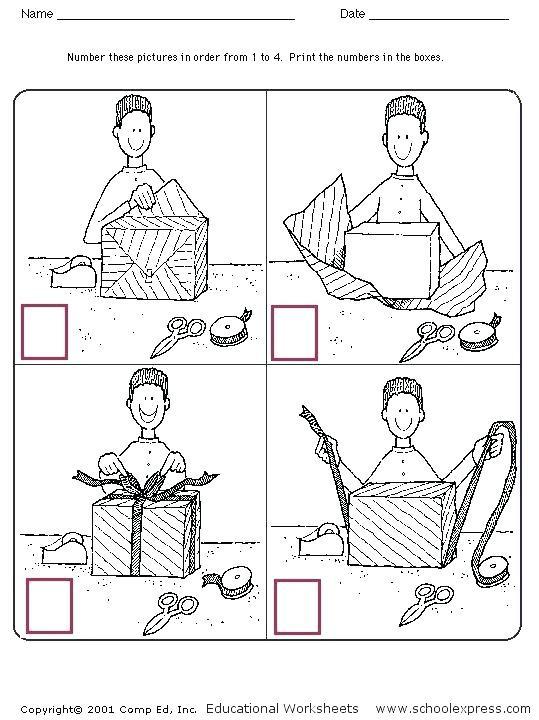 Story Sequence Worksheets for Kindergarten Sequencing Activities for Kindergarten Worksheet Sequence