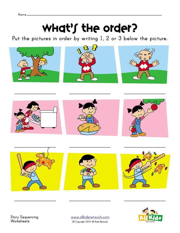 Story Sequence Worksheets for Kindergarten Story Sequence Worksheet