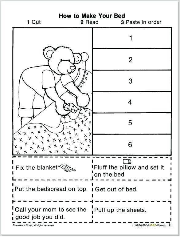 Story Sequencing Worksheets for Kindergarten order Of events Worksheets – Goodaction