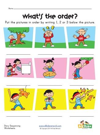 Story Sequencing Worksheets for Kindergarten Story Sequence Worksheet