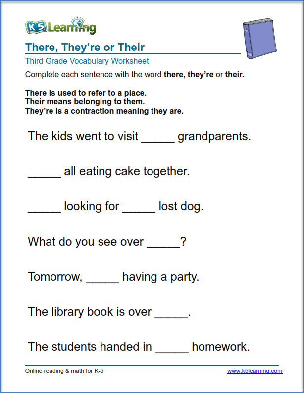Subject Worksheets 3rd Grade Grade 3 Vocabulary Worksheets – Printable and organized by