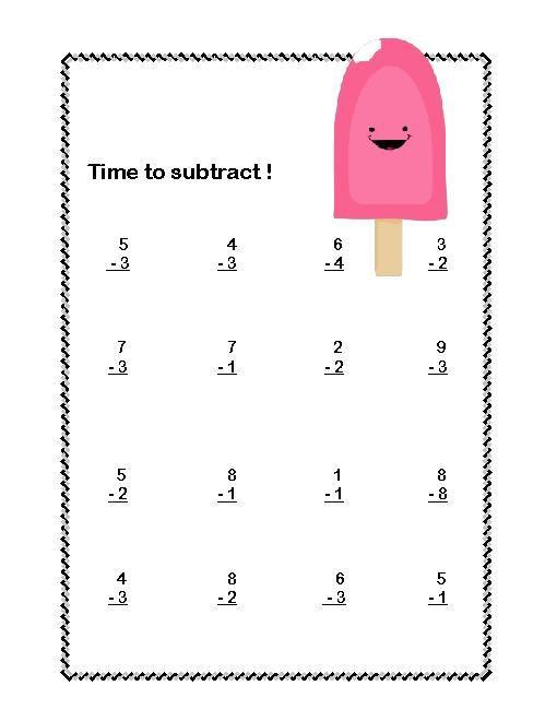 Subtraction Worksheet 1st Grade 1st Grade Subtraction Worksheets & Subtraction Games