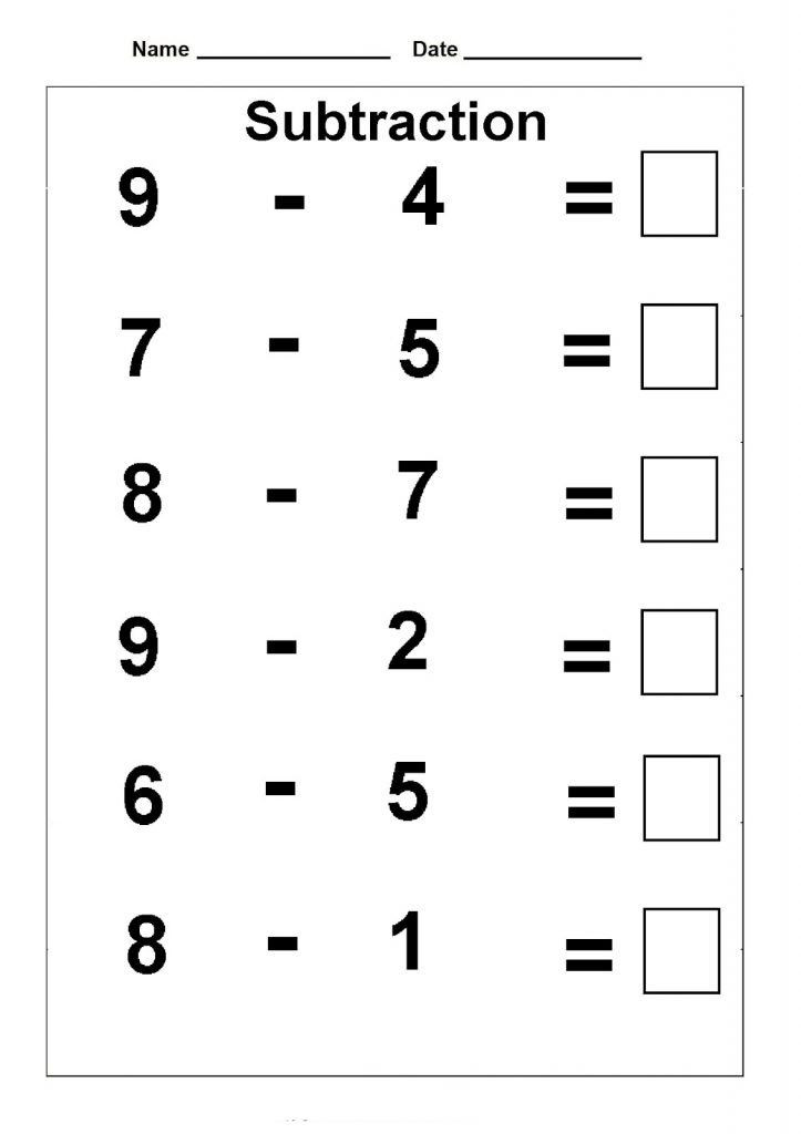Subtraction Worksheet for 1st Grade 1st Grade Math Worksheets