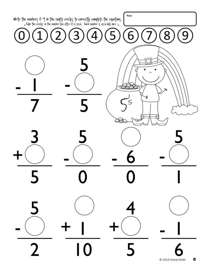 Subtraction Worksheets 1st Grade Math Facts St Easter Addition and Subtraction Syllables