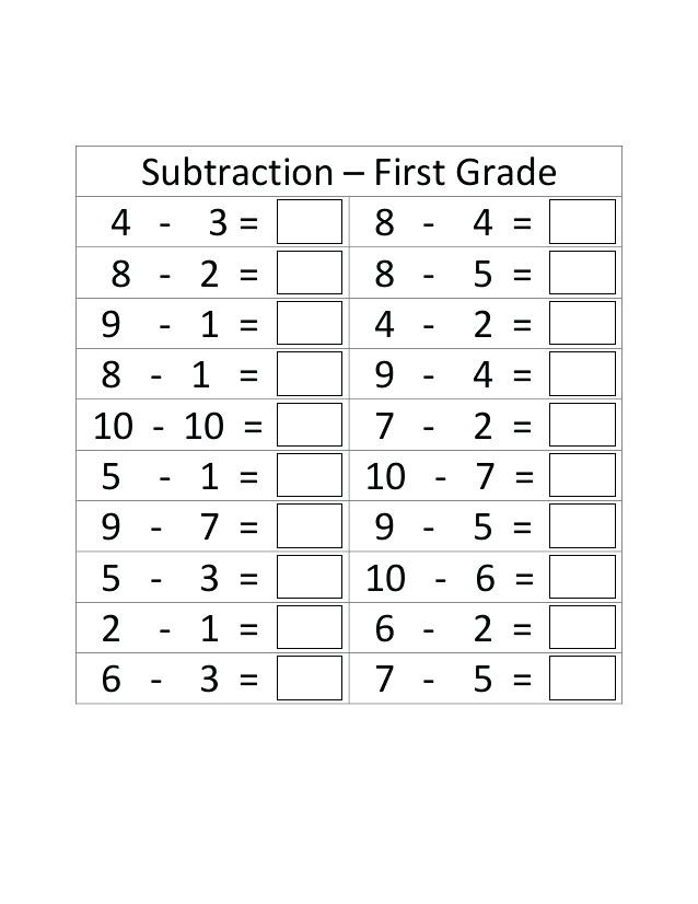 Subtraction Worksheets 1st Grade Printable Addition Timed Tests – Goodaction