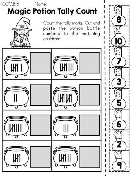 Tally Mark Worksheets for Kindergarten Halloween Math Worksheets Kindergarten