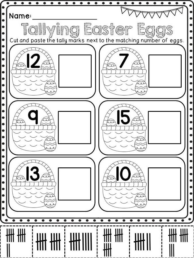 Tally Mark Worksheets for Kindergarten Tally Mark Worksheets Printable