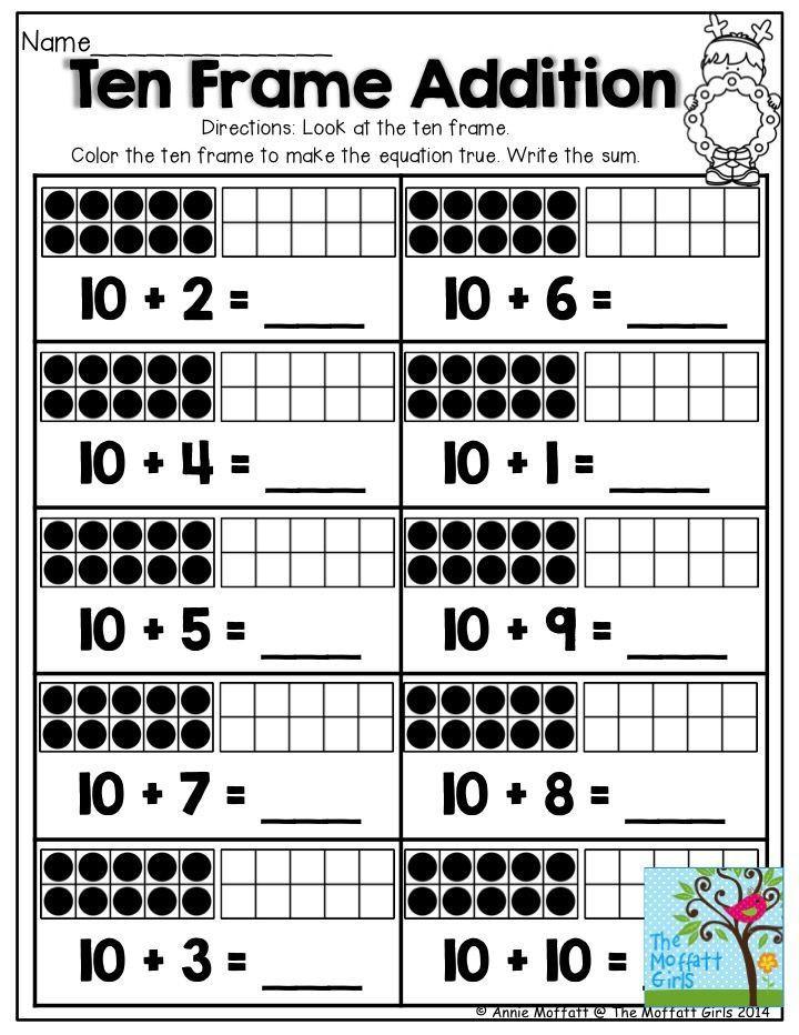 Ten Frame Worksheets Kindergarten 1000 Images About Tally Marks On Pinterest Ten Frame