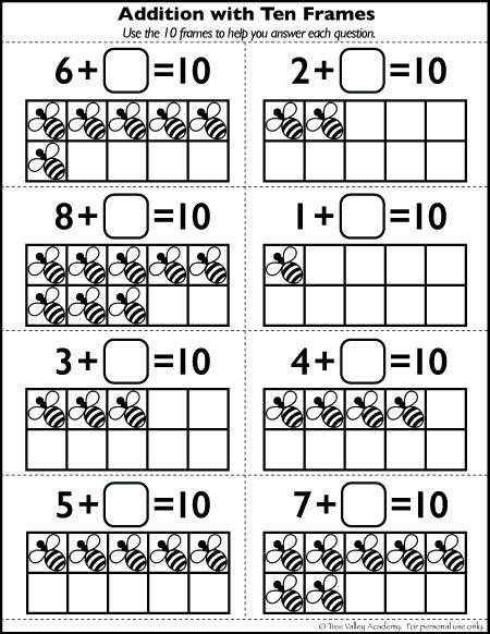 Ten Frame Worksheets Kindergarten Free Number 10 Worksheets