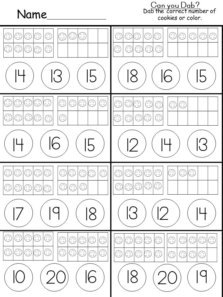 Ten Frame Worksheets Kindergarten Tens and Es for Kindergarten Kindermomma