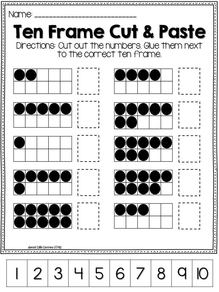 Ten Frame Worksheets Kindergarten This Includes Everything You Need to Help Your Student