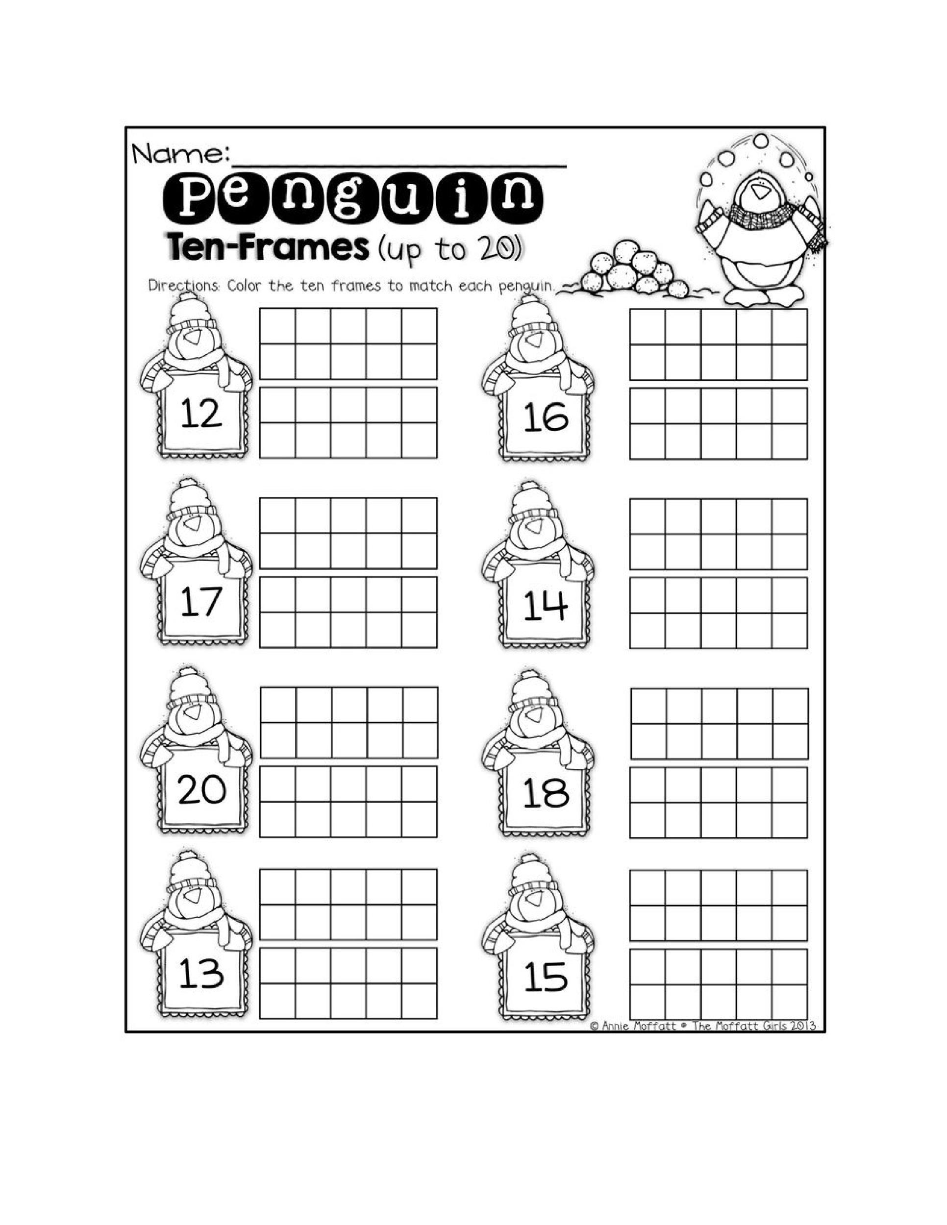 Ten Frame Worksheets Kindergarten Worksheets Ten Frame Math Worksheets Free Kindergarten