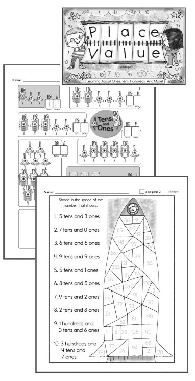Tens and Ones Worksheets Kindergarten Es Tens and Hundreds Worksheets Lessons and Printables