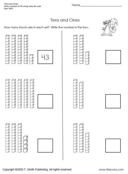 Tens and Ones Worksheets Kindergarten Snapshot Image Of Tens and Es Worksheet 1