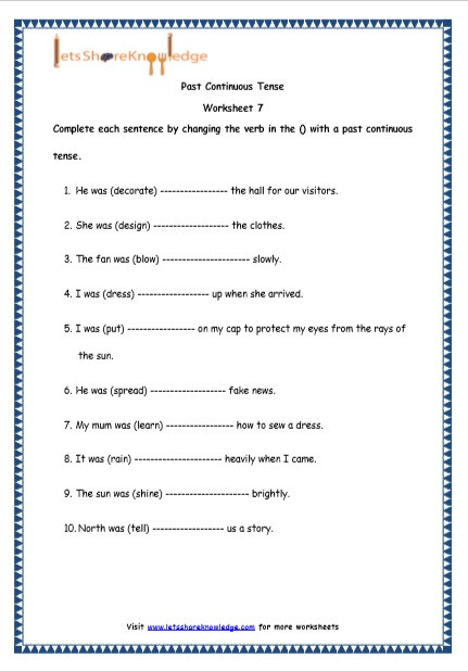 grade 4 english resources printable worksheets topic past continuous tenses