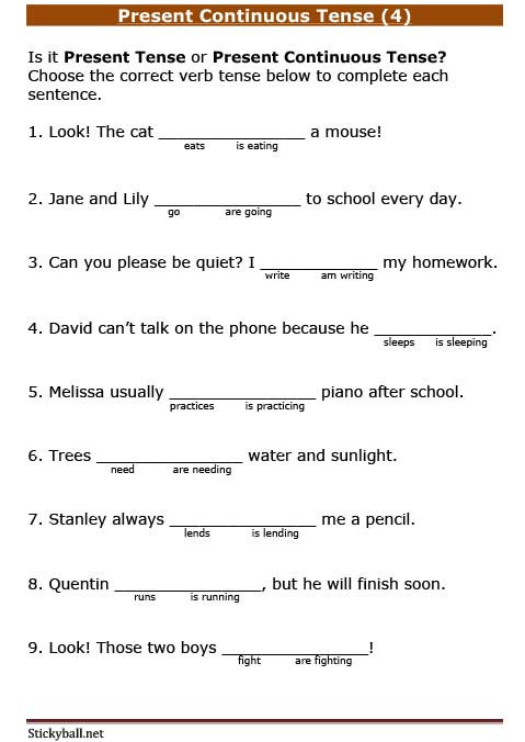 Tenses Worksheets for Grade 5 Tenses Worksheets Archives Page 3 Of 5