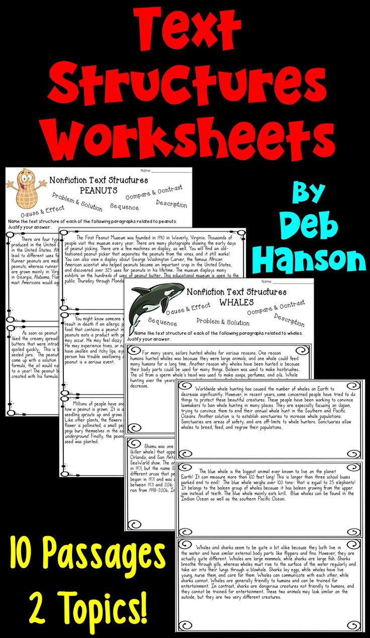 Text Structure 5th Grade Worksheets Informational Text Structures Two Worksheets