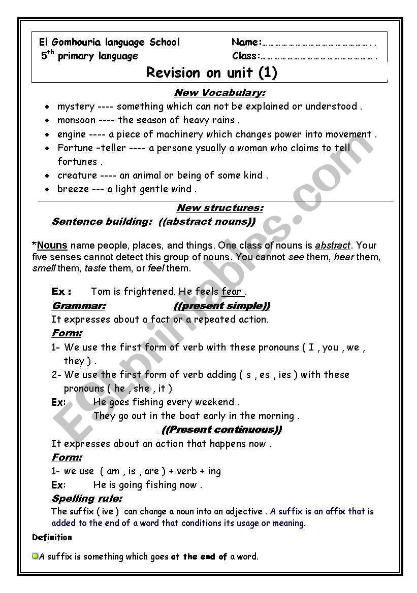 Text Structure 5th Grade Worksheets Revision Sheet Unit 1 for Macmillan Grade 5 Esl Worksheet