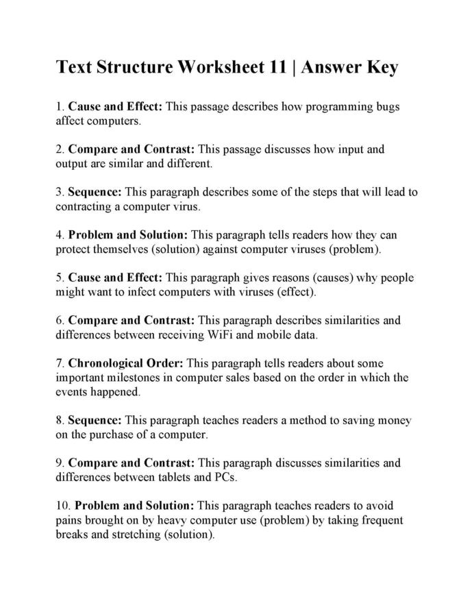 Text Structure Worksheets Grade 4 Main Idea and Text Structure Worksheet Preview Ereading