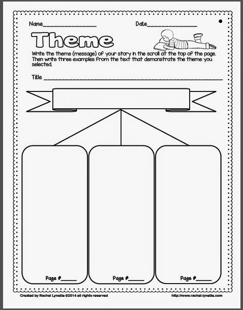 Theme Worksheets Grade 5 Ideas for Teaching theme and A Couple Freebies Minds In