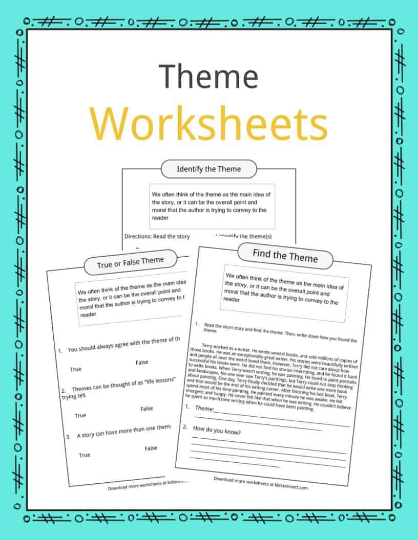 Theme Worksheets Grade 5 theme Worksheets Examples & Description for Kids