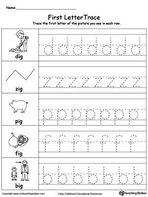 Tracing Lowercase Letters Printable Worksheets Lowercase Letter Tracing Ig Words
