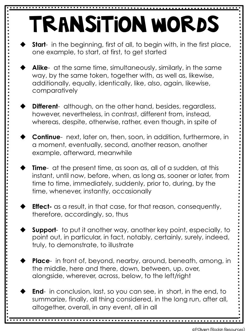 Transition Words Worksheets 4th Grade Writing Mini Lesson 6 Relevant Details