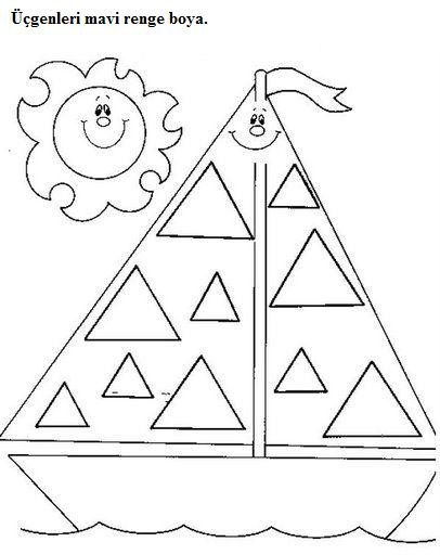 Triangle Worksheet for Kindergarten Triangle Tracing Worksheet for Preschool