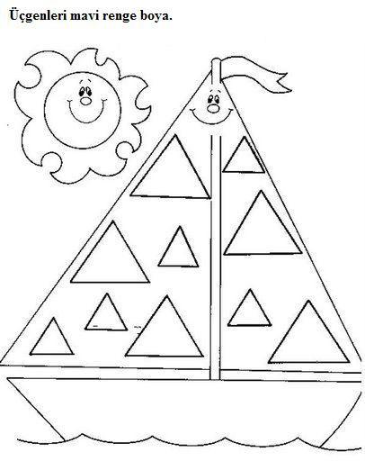 Triangle Worksheet for Kindergarten Triangle Tracing Worksheet for Preschool