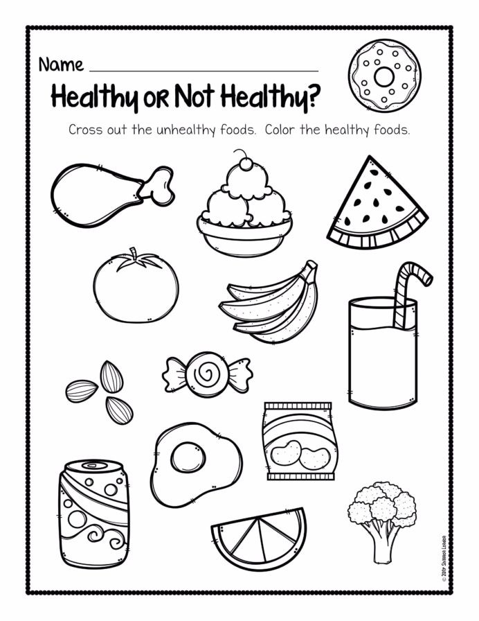 Two Step Equations Coloring Worksheet Healthy Not Worksheets In Habits for Kids Eating Fifth
