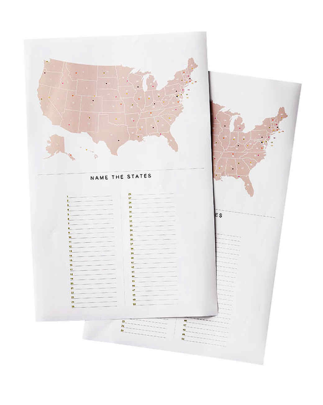 United States Capitals Quiz Printable United States and Capitals Map Trivia Game